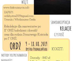 Rekolekcje ORDŻ Bystra Podhalańska 2019